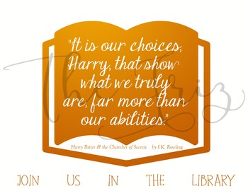 Join Us In The Library Posters Set