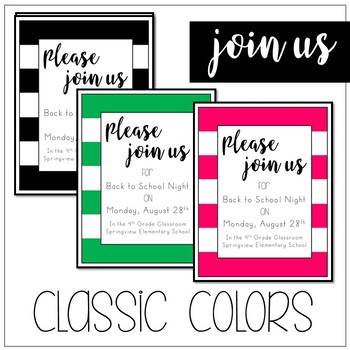 Join Us! Invitation Cards