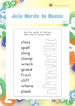 Join Words to Boxes
