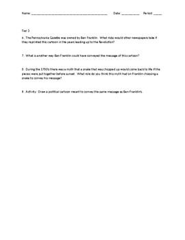 Join or Die political cartoon analysis worksheet