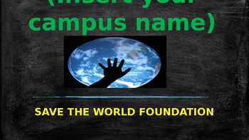 Join the Save the World Foundation