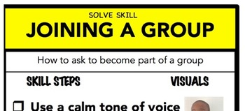 Joining A Group Social Skill Steps Poster - The Empower Program K-2