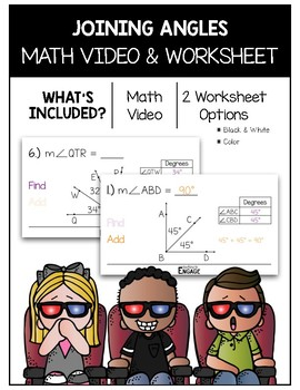 Joining Angles Math Video and Worksheet