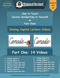 Cursive Handwriting Videos - Joining Capitals to Words - Part One