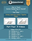 Handwriting Distance Learning - Joining Letters Together V