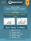 """Cursive Writing Instruction -Joining Letters Together Videos - Part Three"""""""