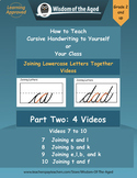 Handwriting Distance Learning -Joining Letters Together Vi
