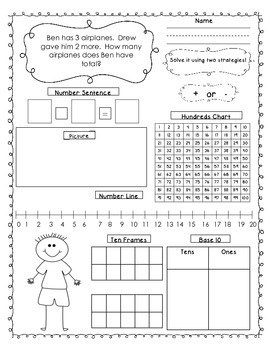 Joining Word Problems for First Grade