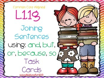 Joining Sentences Task Cards and Quick Check