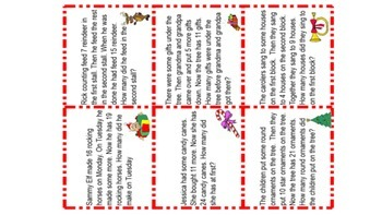 Math Story/Word Problems Joining Type Christmas Theme
