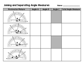 Joining and Separating Angles