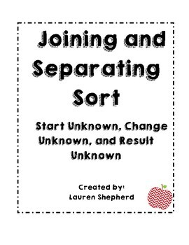 Joining and Separating Math Sorting Game