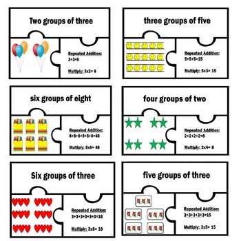 Basic Multiplication Joining equal groups Work Station Rep