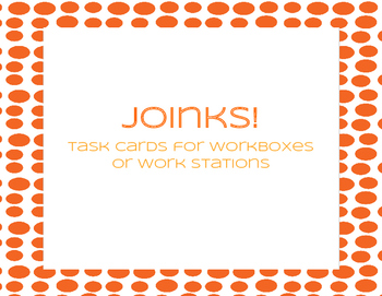 Joinks Task Cards