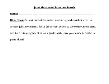 Joint Movement Cut Out Activity