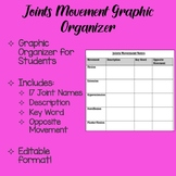 Joint Movements Graphic Organizer