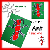 Jointed Ant Paper Craft Template