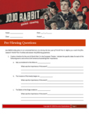 Jojo Rabbit (2019) Guided Viewing (Movie Guide) Worksheet