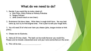 Joke Book Writing Project