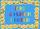 Joke & Humor Center Cards- End of the Year Fun!