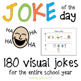 Joke of the Day with visual symbol support for Special Edu