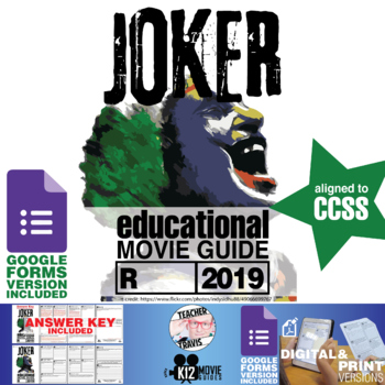 Joker Movie Guide | Questions | Worksheet (R - 2019)