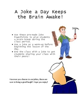Jokes!  A Brain Break activity!