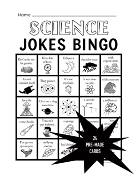 Science Jokes Bingo