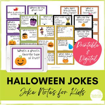 Jokes For Kids October Halloween By Mamateachesstore Tpt