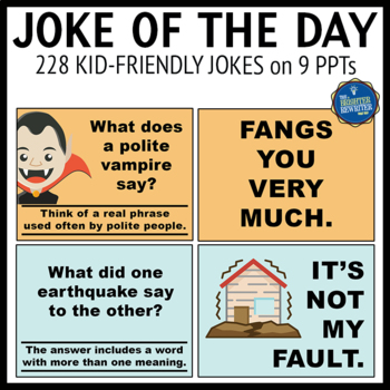 Jokes for the School Year PPTs Bundle