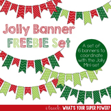 Jolly Christmas Banners FREEBIE