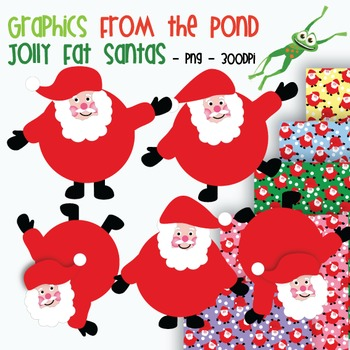 Jolly Fat Santas - Clipart Graphics From the Pond