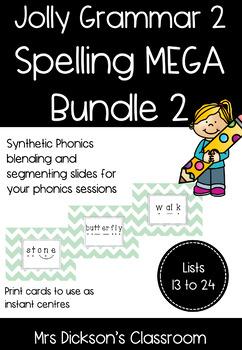 Jolly Grammar 2 Spelling Weeks 13-24 MEGA Bundle Synthetic Phonics Lessons
