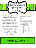 Jolly Grammar 2 Spelling Word Lists