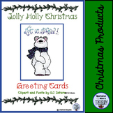 Jolly Holly Christmas Greeting Cards