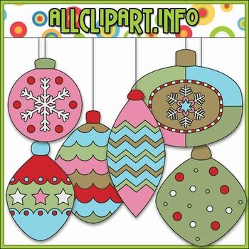 Jolly Hollyday Baubles Clip Art