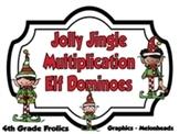 Jolly Jingle Multiplication Elf Dominoes