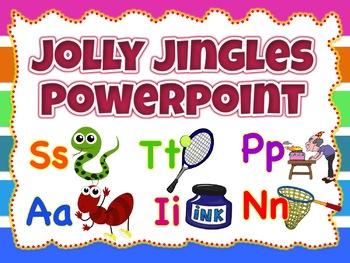 Jolly Jingles Wall decor, Flashcards Powerpoint (Fully Editable) Jolly Phonics