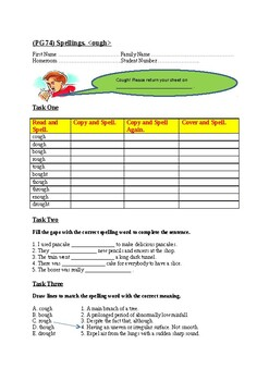 Jolly Learning Grammar 6 Student Book Page 74 Spelling Sheet.