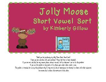Jolly Moose Short Vowel Sort