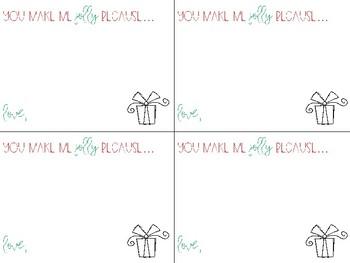Jolly Notes From Teacher