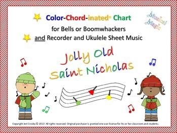 Jolly Old Saint Nicholas - for Bells and/or  Boomwhackers,