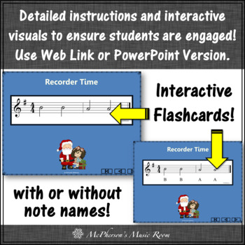 Jolly Old St. Nicholas - Recorder PowerPoint Visuals (Notes DEGAB)