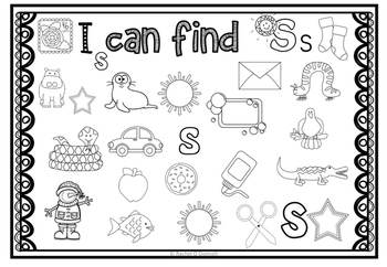 Phonics Center I Can Find I Spy