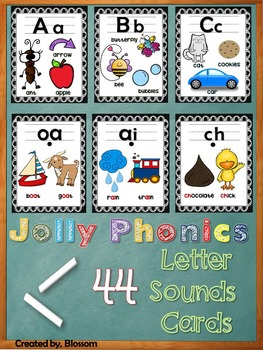 44 sound letter cards (black chalk background)