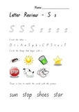 Letter Activity Worksheets- Qld Font - Review Letters s,a,t,p,i,n,c,k