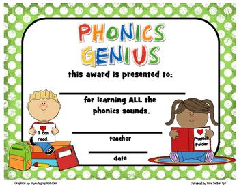 Phonics Award Certificates