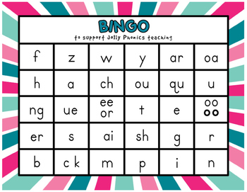 Phonics Bingo By Lisa Sadler Teachers Pay Teachers