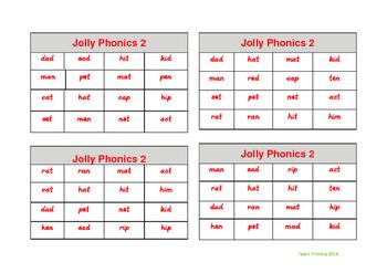 Jolly Phonics Bingo Group 2 sounds set 1
