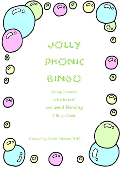 Jolly Phonics Bingo Group 2 sounds set 1